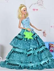 Кукла Барби Волшебник страны Оз Green Lace многослойных вечернее платье