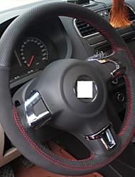 Xuji ™ Натуральная кожа Замша Руль Обложка для Volkswagen Golf 6 Mk6 VW Polo Sagitar Бора Сантана Jetta