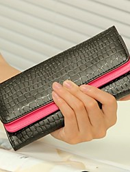 Women's  Vintage Crocodile Leather Wallets Card Coin Purses Clutch Evening Bags