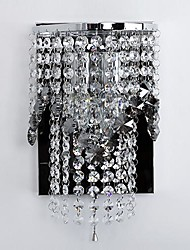 Crystal Wall Sconces , Modern/Contemporary E12/E14 Metal
