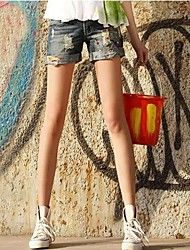 Women's Greasepaint Low Waisted  Denim Shorts