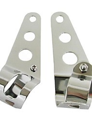 Chrome Headlight Mount Brackets Fork Ears Motorcycle Bobber Cafe Racer 28mm-38mm