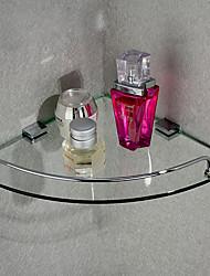 Canto triangular armazenamento prateleira de vidro, de 10 polegadas x 10 polegadas