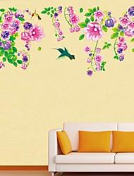 Frankie™ DIY Flower vine Plant Flowers Decorative Wall Stickers