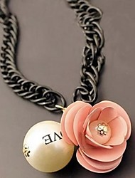 Women's  The Fairy Fan Pearl Flower Necklace