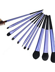 11PCS Upscale Makeup Brushes Cosmetic Eyebrow Lip Eyeshadow Brushes Set with Case