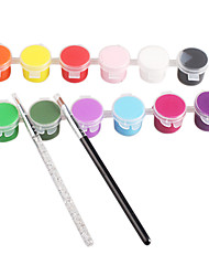 14PCS 12-Color NV Color Gel&2PCS Drawing Pen