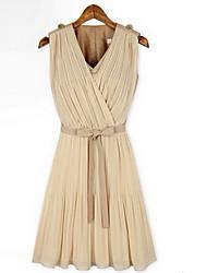 Women's Dress Shirts , Chiffon/Cotton/Cotton Blend/Lace Casual Losha