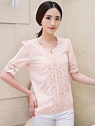 Women's Half Sleeve Chiffon Lace Blouse