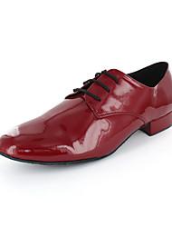 Herrenoberleder Modern Dance Schuhe Schnürschuhe mit Spitze-ups
