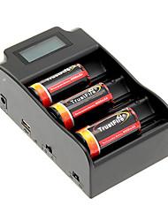 TrustFire 25500 4000mAh da bateria com proteção de sobrecarga (3pcs) + TrustFire TR-008 Carregador de Bateria