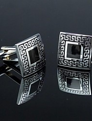 XINCLUBNA®Classic Black and Silver Men's Square Cufflinks (1pair)