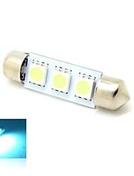39mm 1W 3x5050 SMD LED 50 lm Crystal Blue Lichter Girlande-Kfz-Kennzeichen-Licht-Lampen-Birnen für Auto (DC 12V)