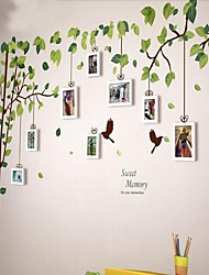 Bianco Photo Frame Set di 9 con Wall Sticker
