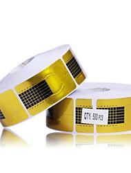 500PCS Golden Horseshoe Padrão unhas formas de arte para o acrílico & UV Dicas Gel