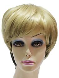 Capless Synthetic Short Mixed Color Fashion Straight Synthetic Wigs