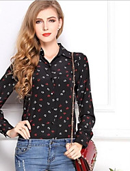 Women's Elegant Boat Anchor Slim Chiffon Shirt