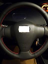 Xuji ™ Noir Couvre volant en cuir véritable pour Toyota Yaris Vios RAV4