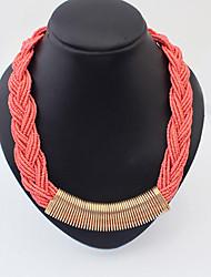 Bohemia Handmade Acrylic Bead Weave Choker Necklace