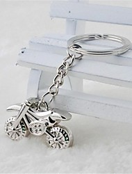 Beautiful Guitar Sell Like Hot Cakes  Cool Cross-Country Motorcycle Stainless Steel Keychain