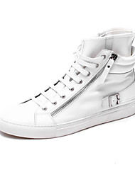 Leatherette Men's Flat heel Fashion Sneakers Laxe-up (More Colors)