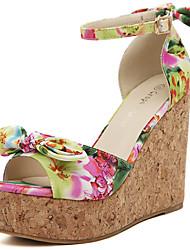 Damen Keilabsatz Peep Toe Sandalen Schuhe (weitere Farben)