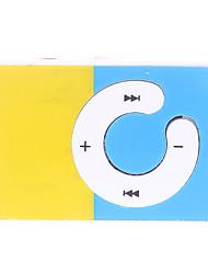 C-Taste Bunte Blockieren Design Clip MP3-Player mit TF-Kartenleser