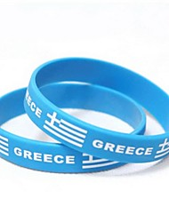 Greece Flag Pattern 2014 World Cup Silicone Wrist Band