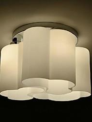 Flush Mount  Light  White Glass Clouds Modern Simple Fashion