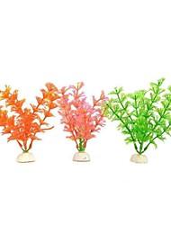 Aquarium   Fish Tank PVC Simulation   Artificial Water Plants   Green   Pink   Orange (3 PCS)