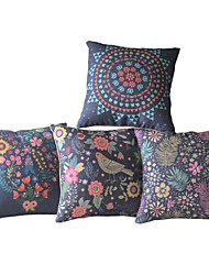 Set of 4 Country Oriental Floral Luxuriant  Pillow Covers