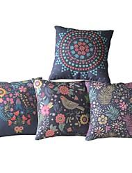 Conjunto de 4 Capas País oriental floral luxuriante Travesseiro