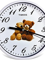 "Timess™ 9""H  Style Teddy Bear Mute Wall Clock"