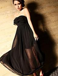Vestido volante Vestido de malla completa de las Mujeres Descalzas