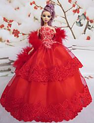 5 pièces Barbie Doll français Débutantes style robe de soirée