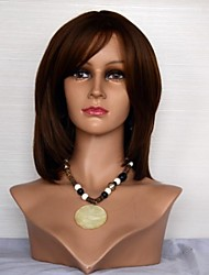 14061312 machinemade Humano Virgem peruca de cabelo natural de onda N º 6 para as Mulheres
