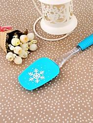 Silicone de grande taille Snowflake Impression beurre Scraper, 25.5x6cm (couleur aléatoire)