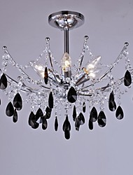Ceiling Lamps , 6 Light , Crystal Artistic Stainless Steel Plating MS-86195