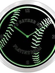 nc0913 Baseball Man Cave Sport Neon Sign Horloge murale LED