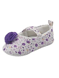 Girls' Baby Flats First Walkers Synthetic Cotton Spring Fall Casual First Walkers Flat Heel Blue Purple Flat Under 1in