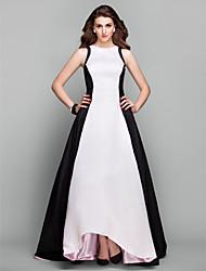 Vestito - Avorio Sera Trapezio/Stile Principessa Decorato Asimmetrico Taffeta