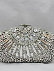 Women's Fashion Design Clear Glass Minaudiere Case