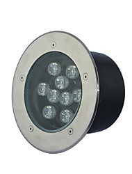 9 LED High Power Warm/Pure/Cool White Underground Light AC85-265V