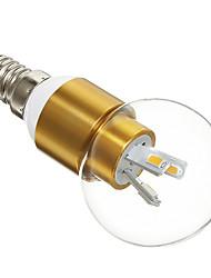 3W E14 Круглые LED лампы 6 SMD 5730 300 lm Тёплый белый AC 220-240 V