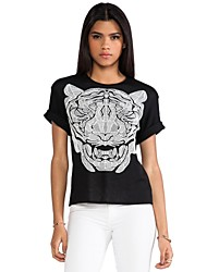 Haoduoyi ™ Tigre du Bengale Imprimer col rond T-shirt