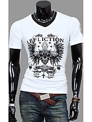 Casual col en V T-shirt de Sameul hommes