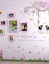 Pink Photo Frame Set of 6 with Wall Sticker