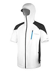 AMADIS poliéster blanco de manga corta Anti-UV Pesca Jacket