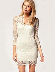 Juciy Women's Lace Splice Bodycon Dress