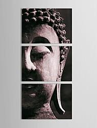 Handgemalte Ölmalerei Buddha Gemälde mit gestreckten Rahmen 3-er Set